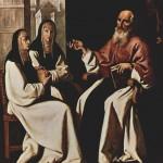 Der hl. Hieronymus mit den Ordensgründerinnen